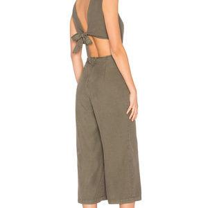 1f12170ad048 Avec Les Filles Pants - Avec Les Filles Womens Evergreen Tie Back JumpSuit
